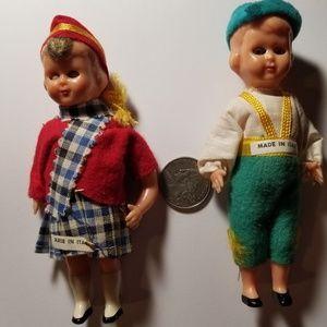 Vintage Celluloid sleepy eye Alpine dolls